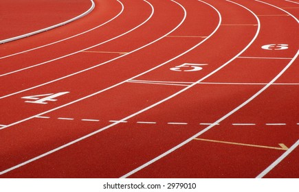 Close-up of a university track