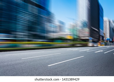 close-up of urban road with blurred background,shenzhen,China.