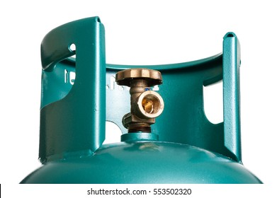 Closeup valve of LPG cylinder for cooking