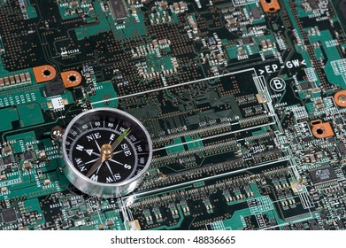 Close-up veew of the abstract microcircuit. Electronic Background