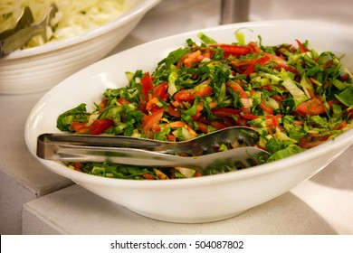 Closeup of vegetable salad in the bowl
