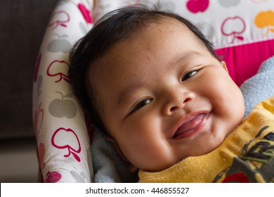 Closeup of Very nice smile from Asian kid