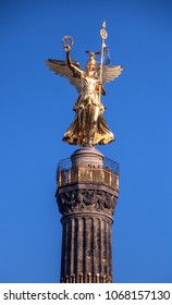 Close-up of Victory Column in Berlin, Germany