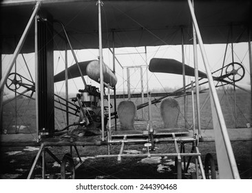 Close-up view of a 1911 Wright airplane a two-seater developed for the U.S. army under a 1908 contract paying 25 000 600 000 is 2010 equivalent .