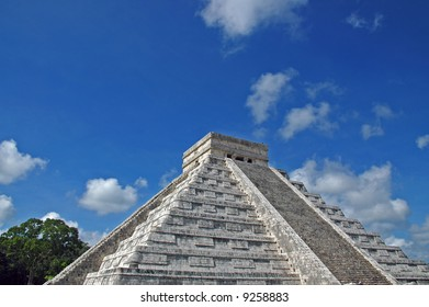 Closeup view of Ancient Mayan Pyramid found in the Yucatan, Mexico