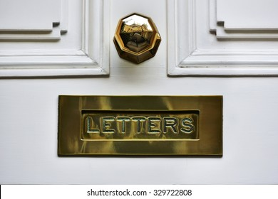 Close-up View of a Beautiful Letter Box on a House Front Door