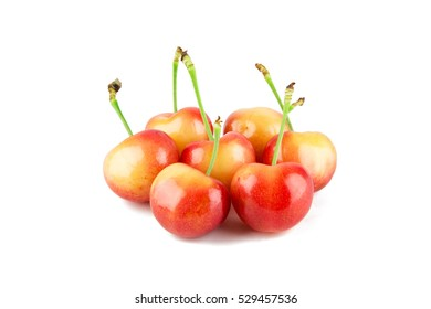 Close-up view of Chile Rainiers isolated on white background.