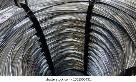 Close-up view of industrial cables.