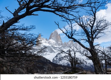 Close-up view of Monte Fitz Roy in Argentina
