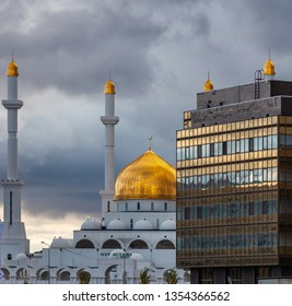 Close-up view of Mosque Nur-Astana, Kazakhstan, Astana, Nur-Sultan