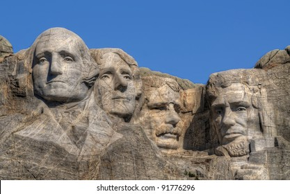 close-up view of Mt. Rushmore