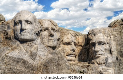 closeup view of Mt. Rushmore
