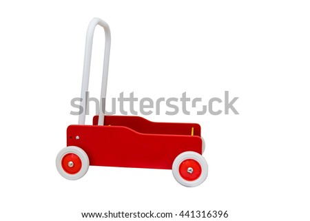 Wooden Push Wagon For Toddlers