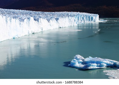 Closeup view of Perito Moreno glacier. Patagonia, Argentina