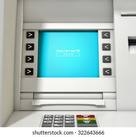 A closeup view of the slip printing section of an atm with a withdrawal receipt