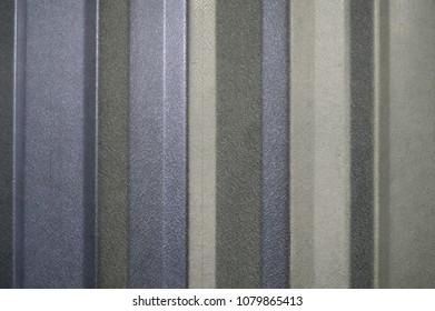 Closeup view of some metal siding.