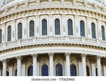 closeup view of US Capitol in Washington DC