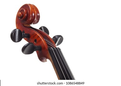 Closeup view of violin