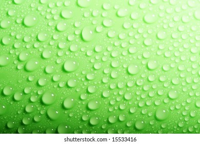 Closeup view of the water drops background