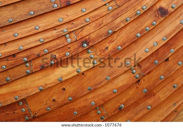 Close-up of a viking ship