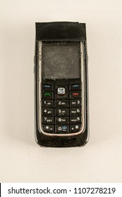 Close-up of vintage cellphone