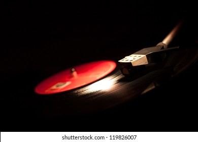 Closeup of vintage gramophone