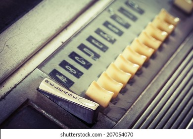 closeup vintage Jukebox button