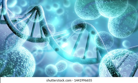 Close-up of virus cells or bacteria on light background