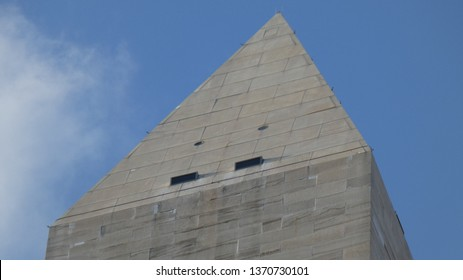A close-up of The Washington Monument Pyramid Capstone - Photo