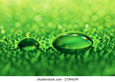Close-up of water-drops on glass background