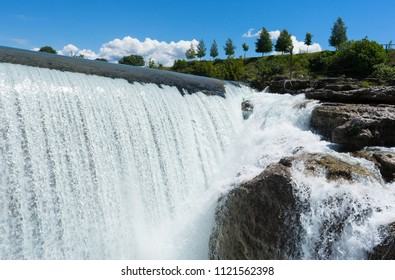 Close-up of a waterfall cascade in Montenegro