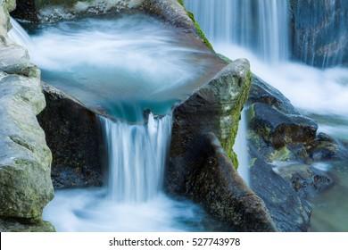 Close-up of a waterfall cascade, Switzerland