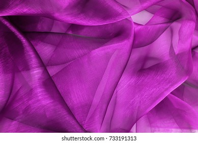 closeup of the wavy organza fabric