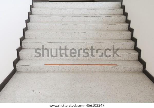 Closeup Way Stairs Terrazzo Select Focus Stock Photo Edit