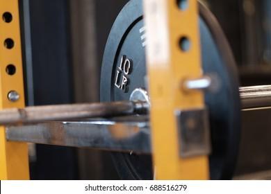 Closeup of weights