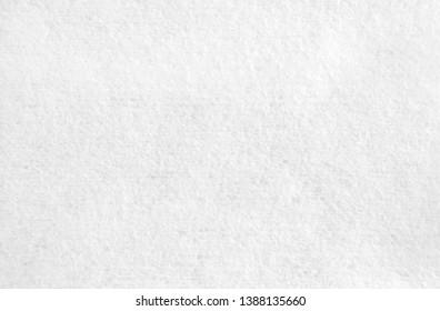 Closeup white blank fabric wet wipe texture background.