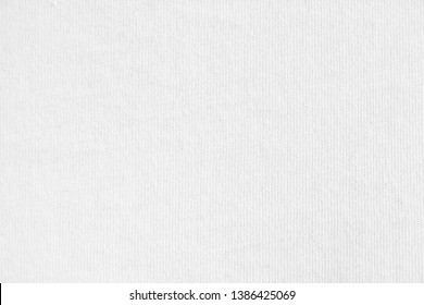 Closeup white cotton fabric texture background.