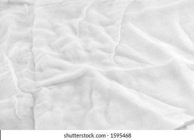 Closeup of white Gauze yardage