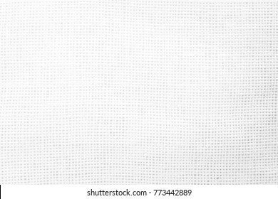 Closeup white hessian jute background Burlap sack light grey color texture concept for empty space for gauze line, hemp fabric text background, sisal line