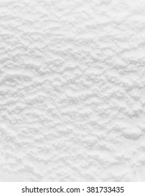 closeup of white ice cream surface