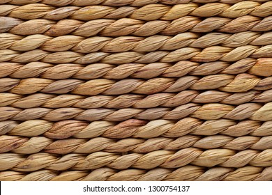Close-up wicker basket texture. Natural fibers.