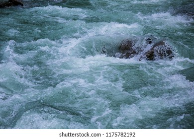 Close-up of a wild mountain creek