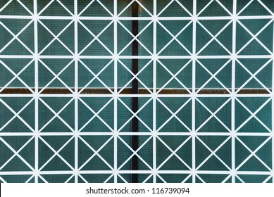Close-up of a window with grills, Athens, Greece