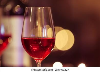 Close-up of wine glass.