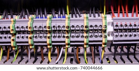 Terrific Closeup Wiring Connectors Terminal Block Industrial Stock Photo Wiring 101 Xrenketaxxcnl