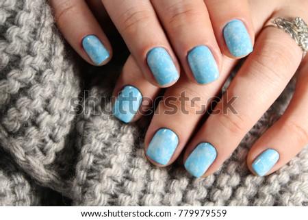Closeup Woman Hands Nail Design Trendy Stock Photo Edit Now