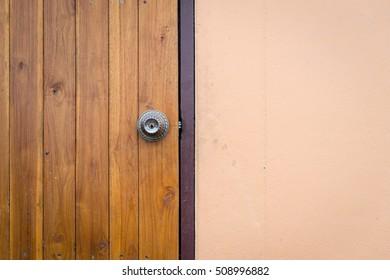 Closeup of Wood Door Background