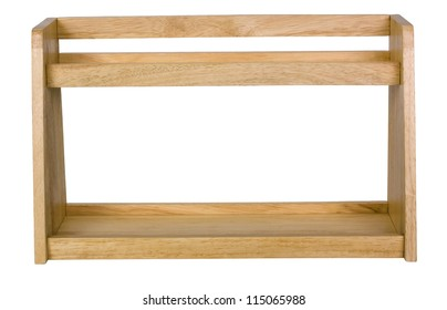 Close-up of a wooden rack