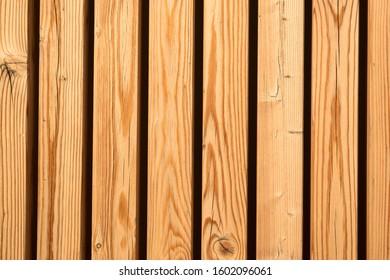 Closeup of wooden vertical parallel slats