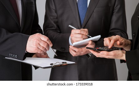 Closeup of working business team, concept of successful team work